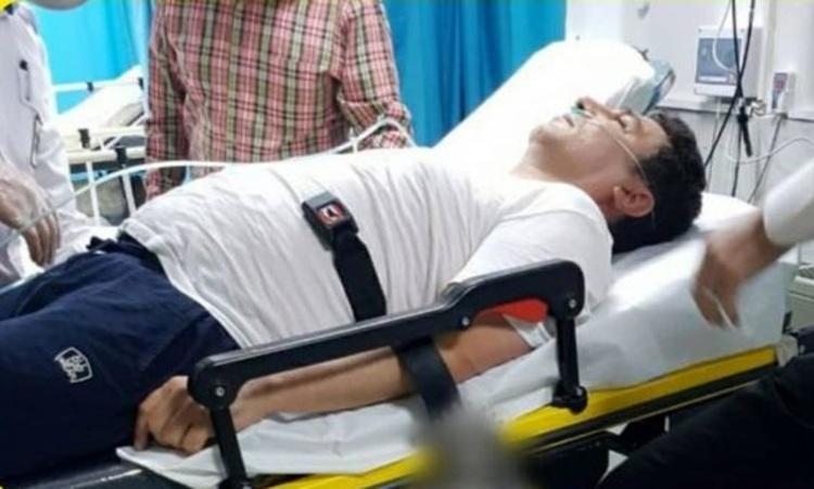 (عکس) آخرین شرایط قلعه نویی پس از بستری شدن در بیمارستان